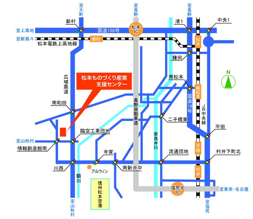 松本ソフト開発センター地図